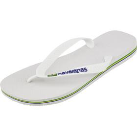 havaianas Brasil Logo Sandaler Herrer hvid